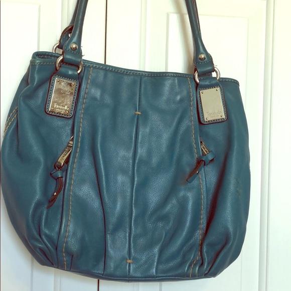 56e3f82b0c Tignanello Leather Purse Teal. M 5b21745834a4ef429a04d781